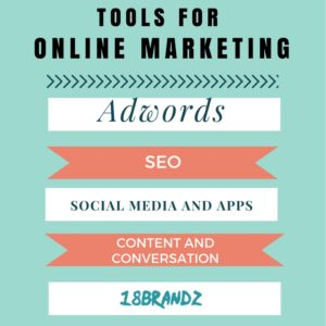 18Brandz's Tools for online marketing- Adwords SEO Social Media and Apps Content and Conversation